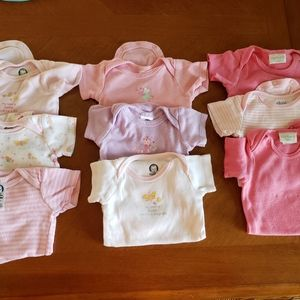Girl onesies 0-3 and 3-6 months